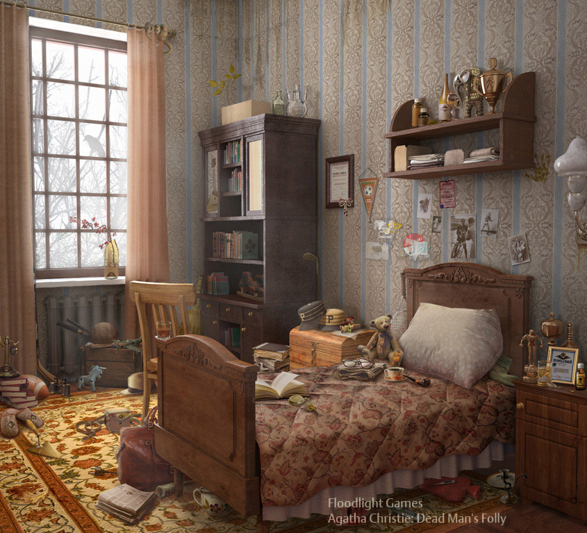 Matte Painting : alfred's_room by OlesyaGavr