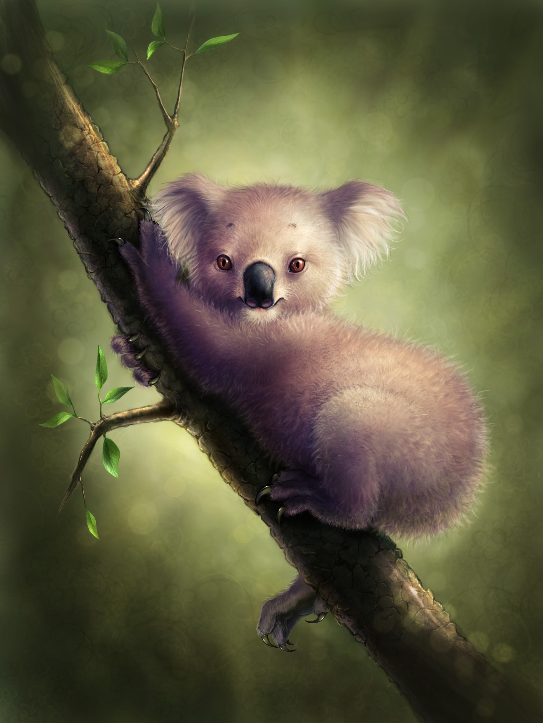 Spherical koala in vacuum by OlesyaGavr