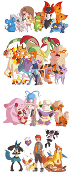 PKMN Trainers with kawaii eyes - Part #1
