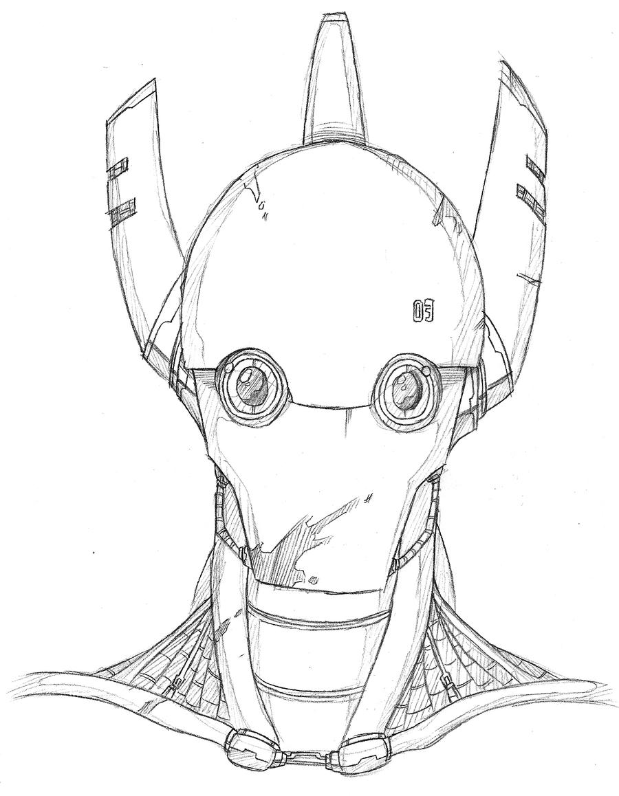 Robot Head by SJWebster on DeviantArt
