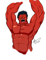 Red Hulk by SJWebster