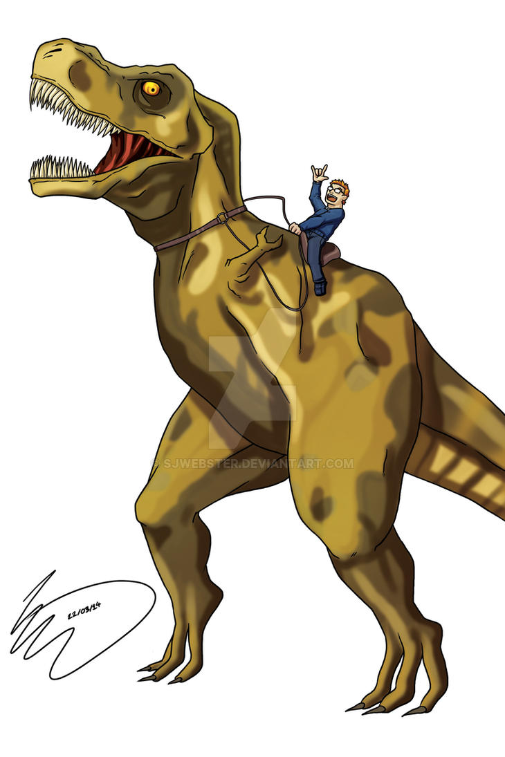 Week 1 - Dinosaur Rider by SJWebster