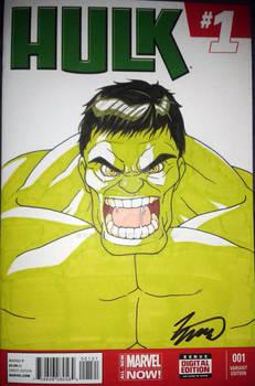 Hulk Blank Variant Cover