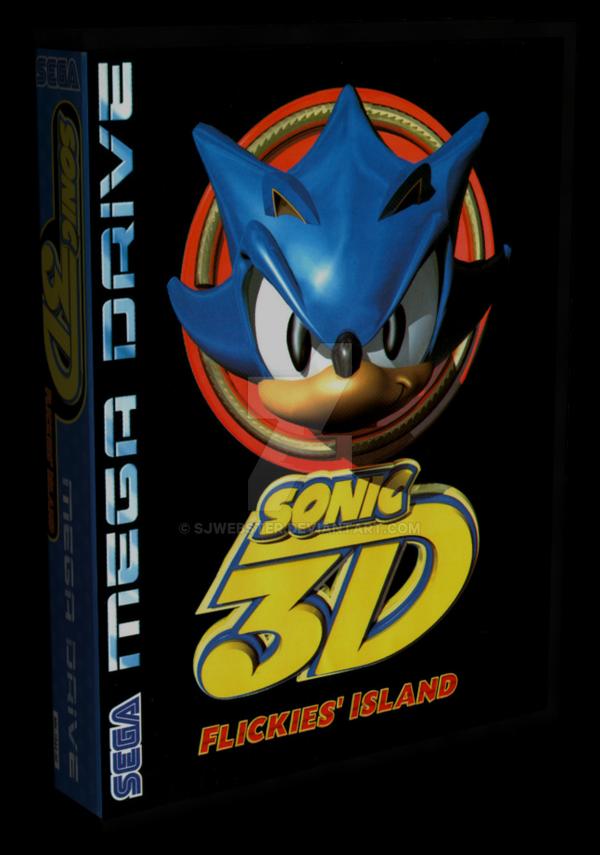 3D Mega Drive Case - Sonic 3D by SJWebster