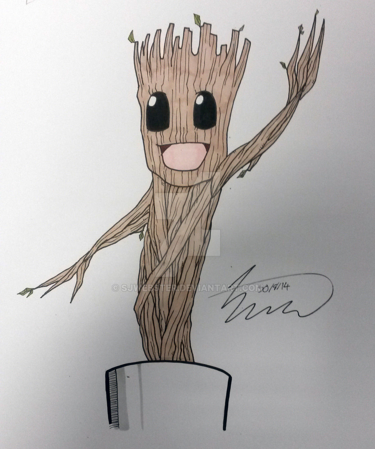 Dancing Groot by SJWebster