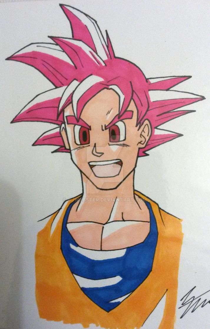 Super Saiyan God Goku by SJWebster