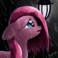 Under the rain, they can't see you cry