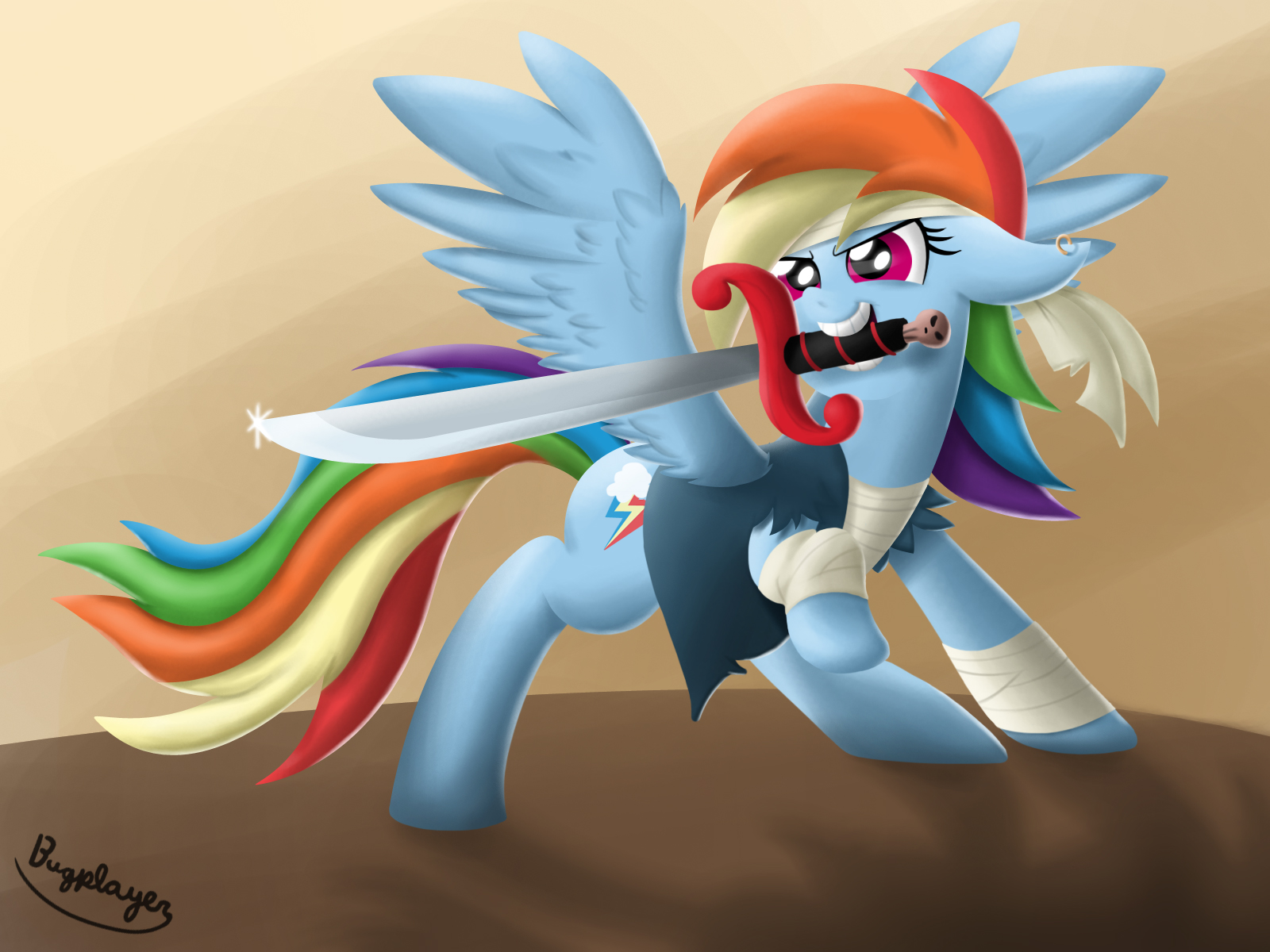 Pirate Rainbow Dash by Bugplayer