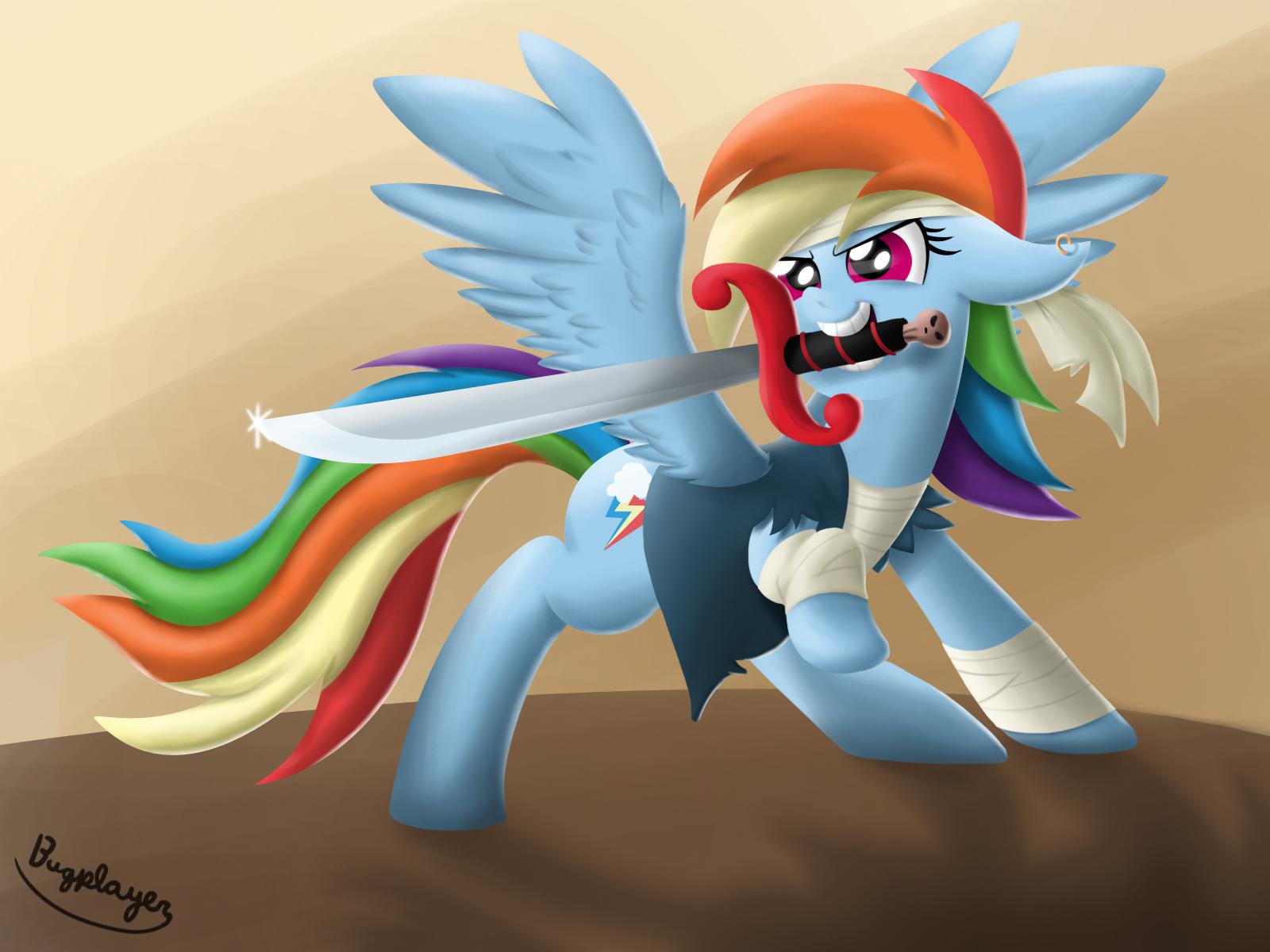Pirate Rainbow Dash by Bugplayer