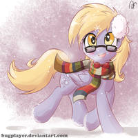 Derpy in the snow by Bugplayer