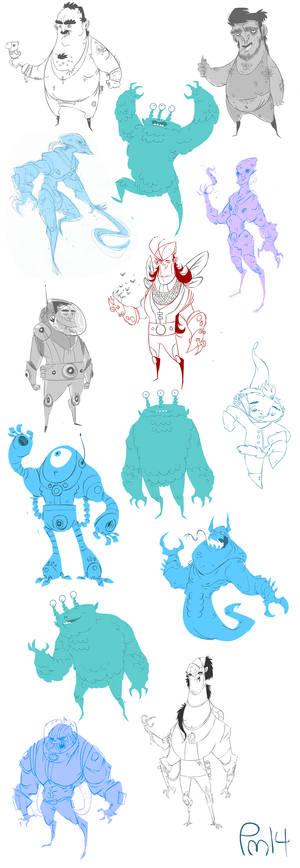 bunch o' sketches
