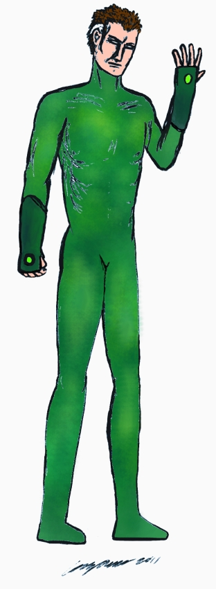 Green Lantern costume fiddling by Oxbrow