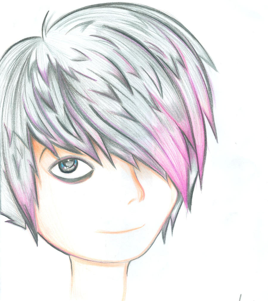 How to draw a simple emo face step 1 - How To Draw Anime Scene Girl Hair Wonderful Emo Hair Boy Flippy Exactly Inspiration Article