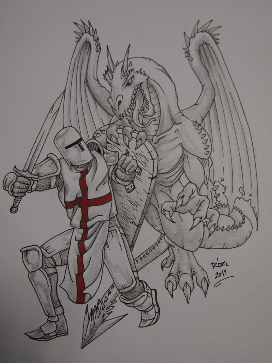 Knights and dragons by rizsisindra on deviantart for Tattoo shops in st george