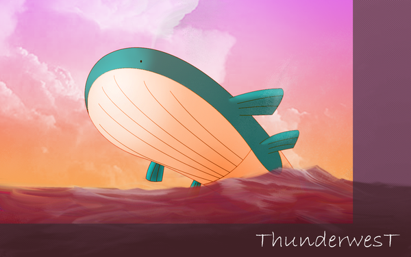Wailord by Thunderwest on DeviantArt Wailord Wallpaper
