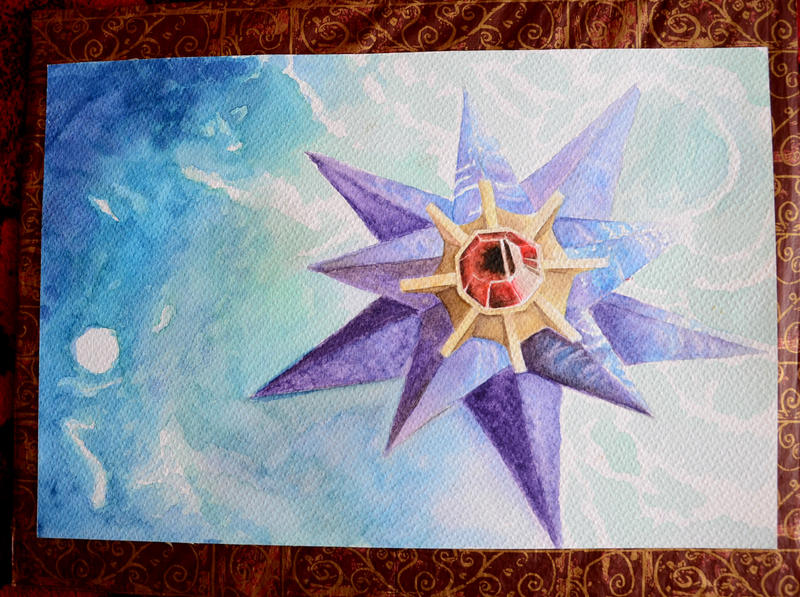 Watercolor Starmie by Thunderwest
