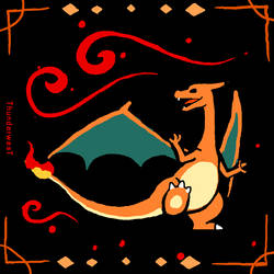 Daily paint No. 6 (charizard) by Thunderwest