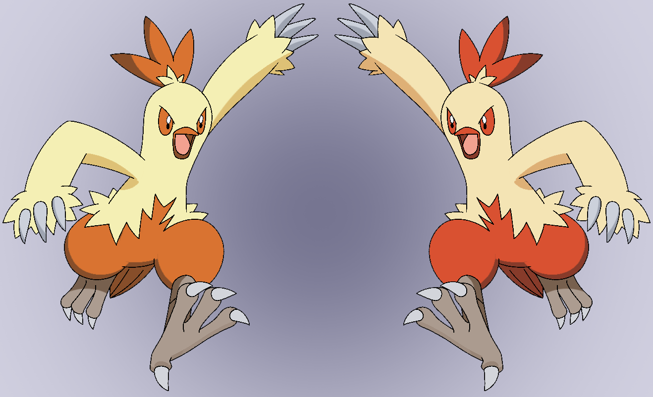 combusken shiny reflection by Thunderwest on DeviantArt