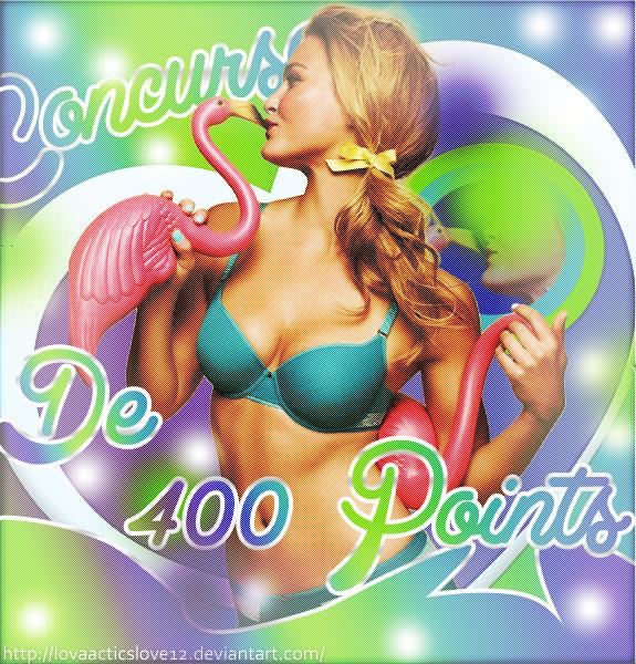 Concurso de 400 Points by LovaActIcsLoVe12
