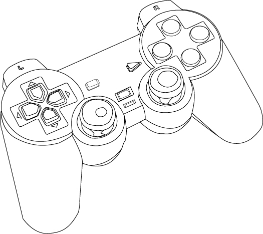 playstation 1 controller drawing