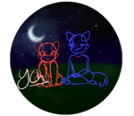 OPEN Couples YCH // Bright night by Pachycephalosauria