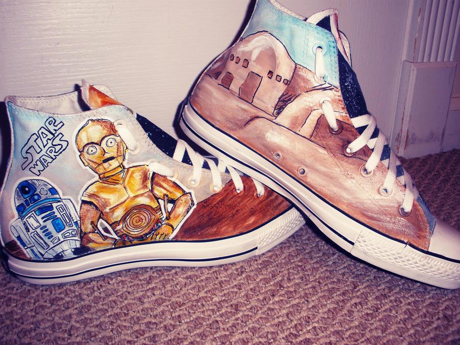 Star Wars Shoes Side 2 by DeadlySemicolon