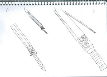 Airbender sword A,B by phantom115cw