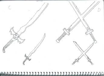 Airbender sword C,D by phantom115cw