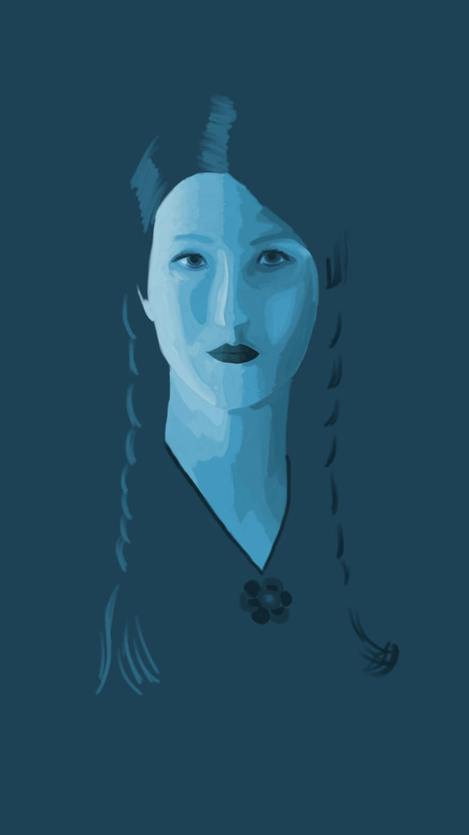 Self Portrait Blue Period by QuillfulThinking