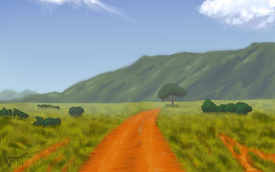 Savannah road - wallpaper