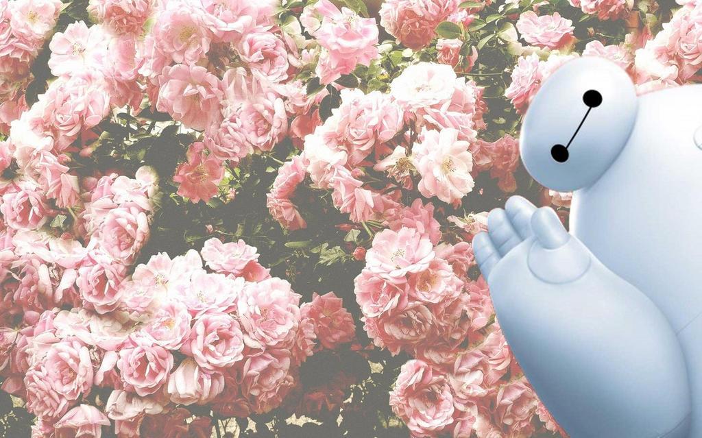 Baymax flower wallpaper by helenabitch on DeviantArt