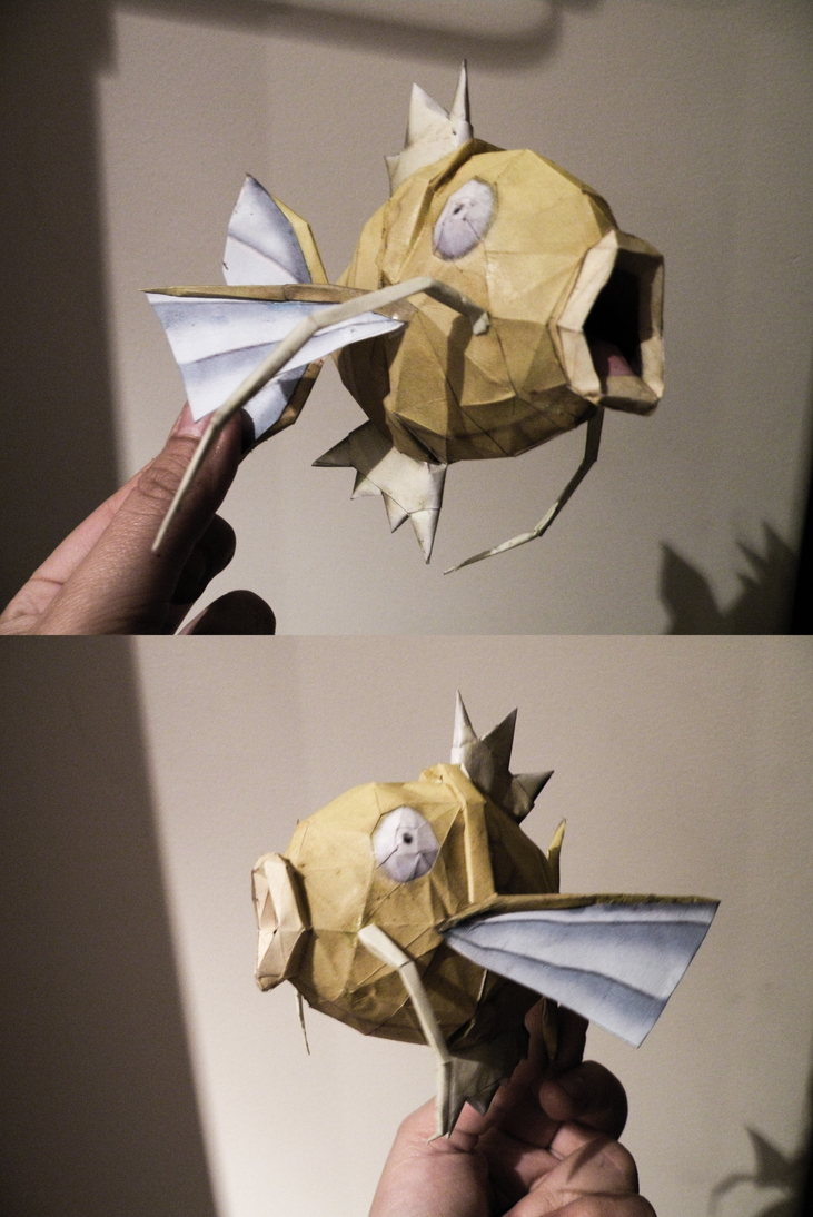 Shiny Magikarp Papercraft by Chardove