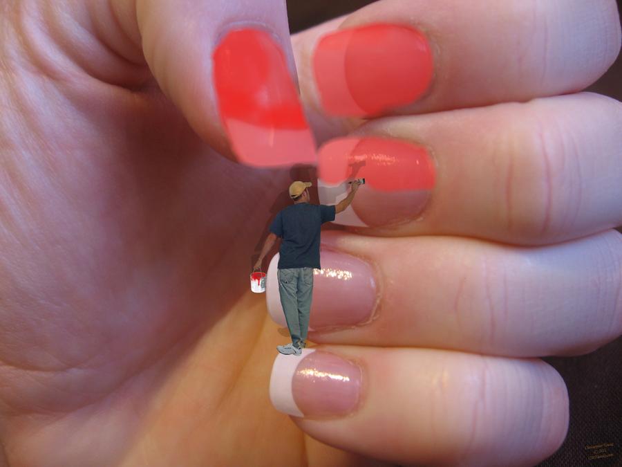 видео как сделать ногти белыми в домашних условиях
