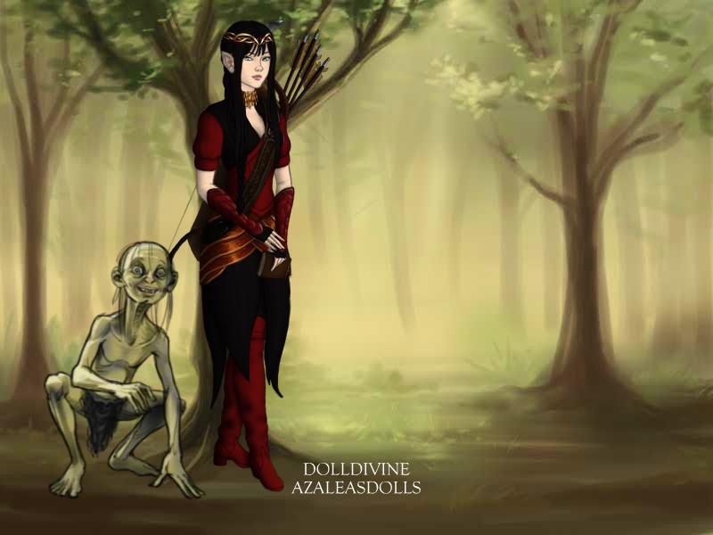 Astrid (plus Gollum) by AsamiSaika