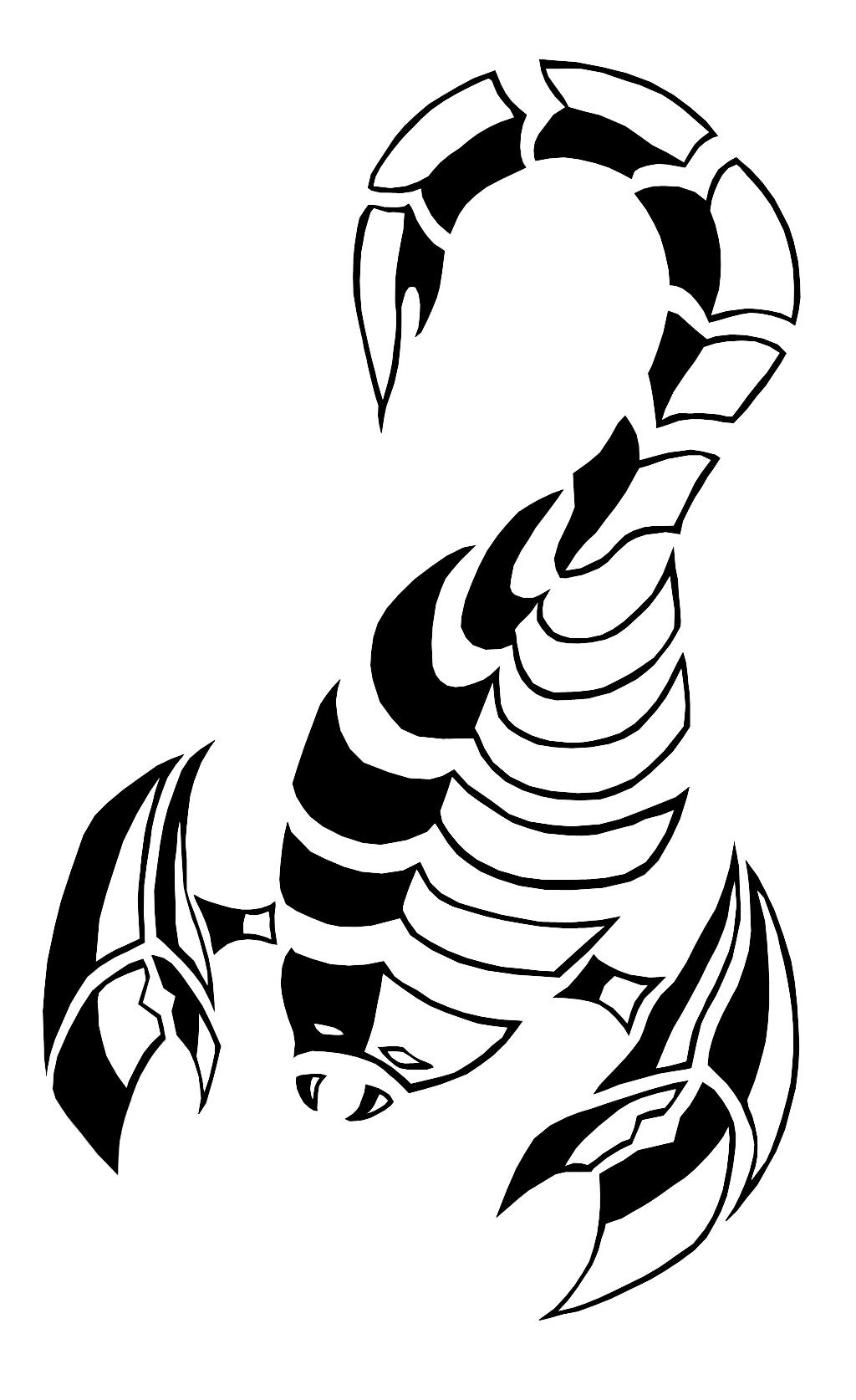 tribal scorpion blackwhite by hakuren92 on deviantart