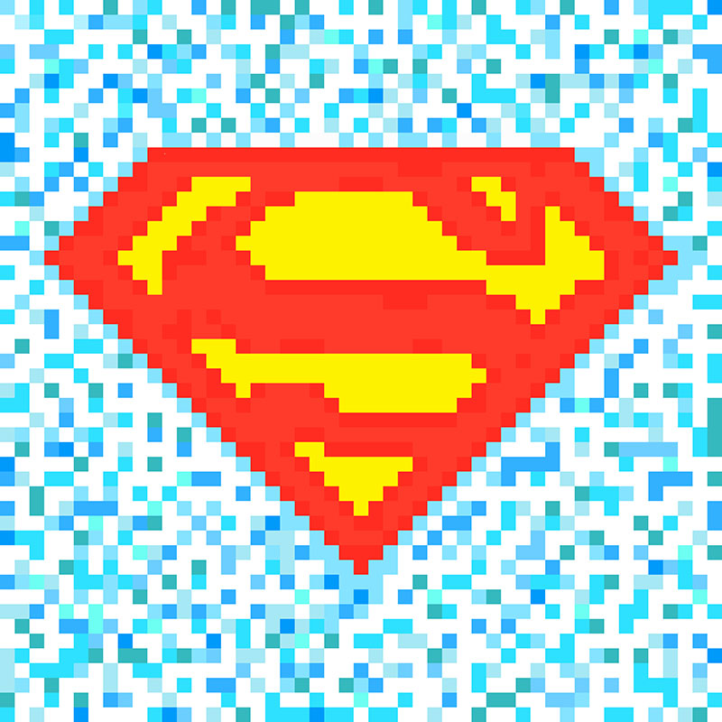 Superman Pixel Logo By Yiannislio On Deviantart