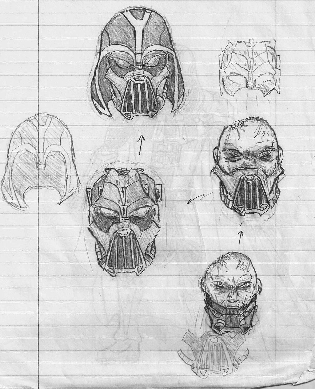 Darth Vader Unmasked (Concept Art) by Lledroc on DeviantArt