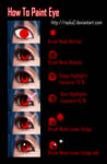 How to Paint eyes in ps