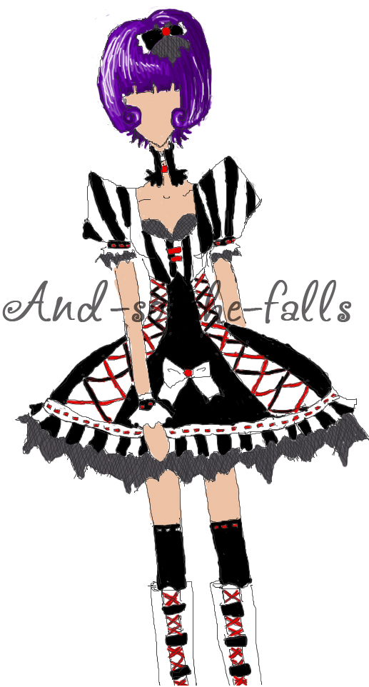 BRW Lolita Dress Design by and-so-she-falls