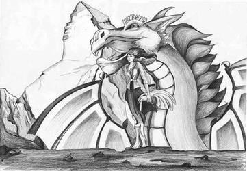 Hand-drawing-dragon-pike