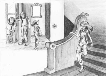 Hand-drawing-in-the-stairs by victoriachois