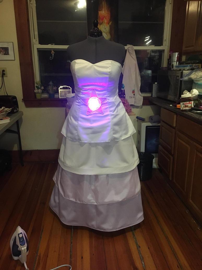 Rose Quartz Dress by FlukeOfFate