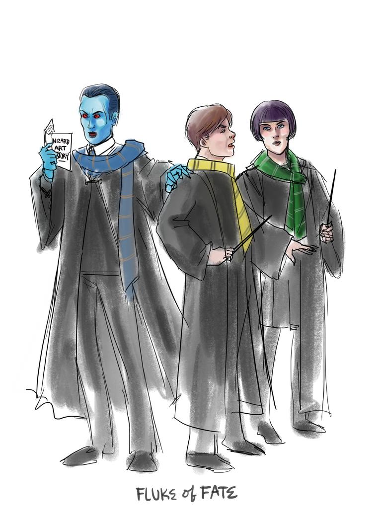 Thrawn, Eli, and Arihnda in Hogwarts by FlukeOfFate