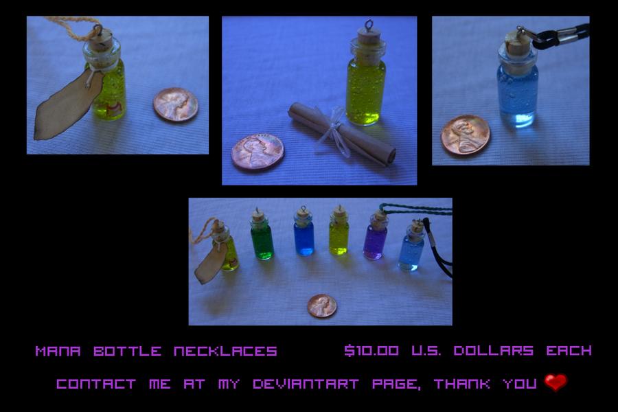 .+ Mana Bottle Necklaces +. by tobi2moodring