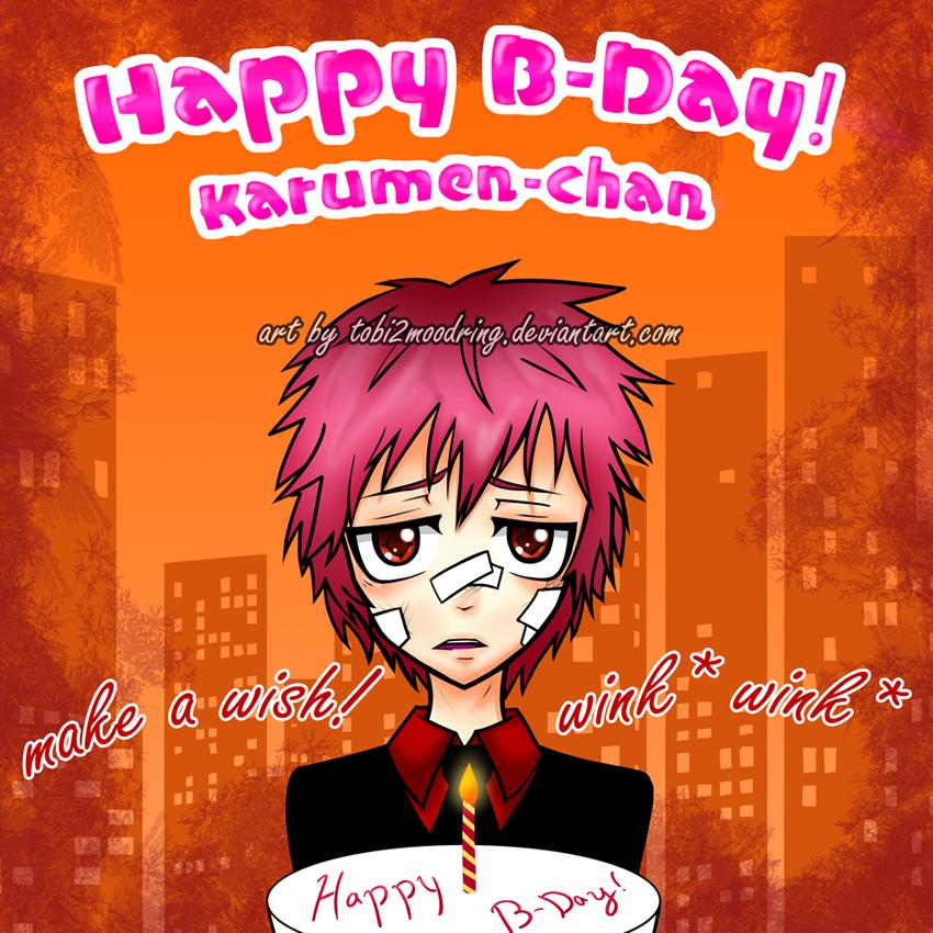 .+ B-dayGift 4 Karumen-Chan +. by tobi2moodring
