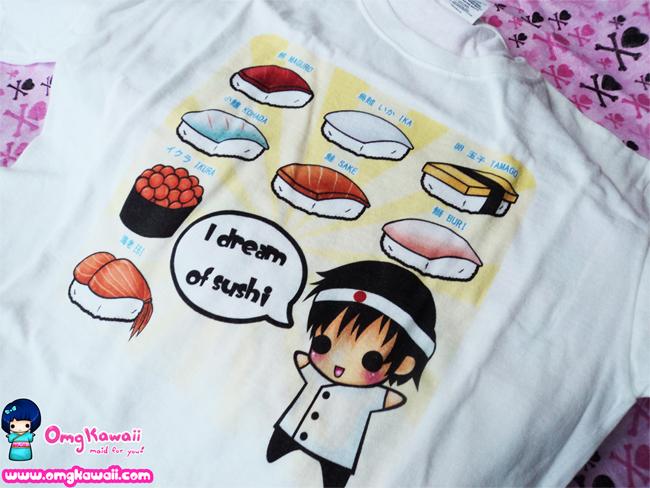 .+ Sushi T-shirts $20 +. by tobi2moodring