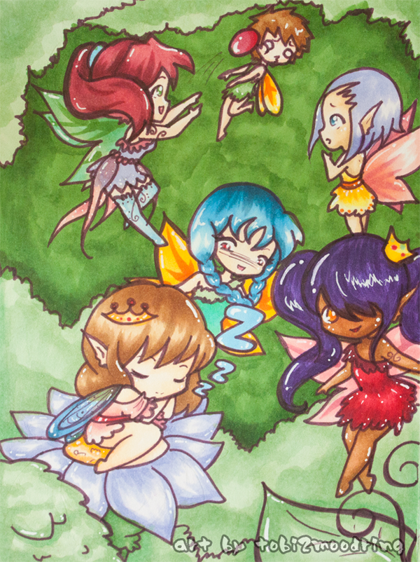 Fairies for loveanimedrawing's contest :D by tobi2moodring