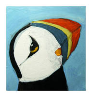 Little Paintings - Puffin by Duffzilla
