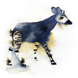 InkAnimals - Okapi by Duffzilla