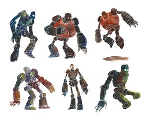 Watercolour Robots 2